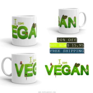 I am Vegan - MUG - Collage