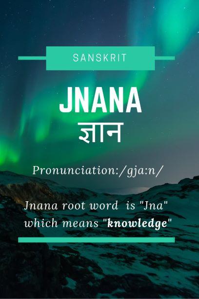 Jnana - Sanskrit
