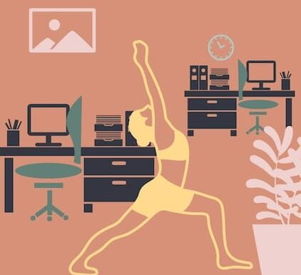 Yoga Poses While Doing Desk Work